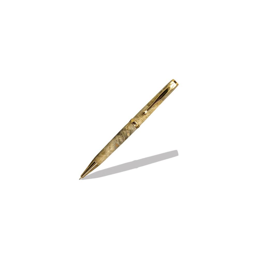 Mécanisme styloà bille dorés avec caoutchouc Confort Maison Du Tournage # Mécanisme Stylo Bois