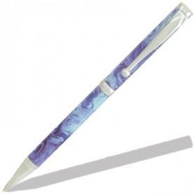 Mécanismes stylos à bille Fun satinés perlés (lot de 5)