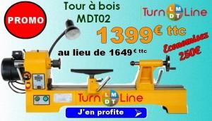 Promotion sur le tour a bois TurnLine MDT02.
