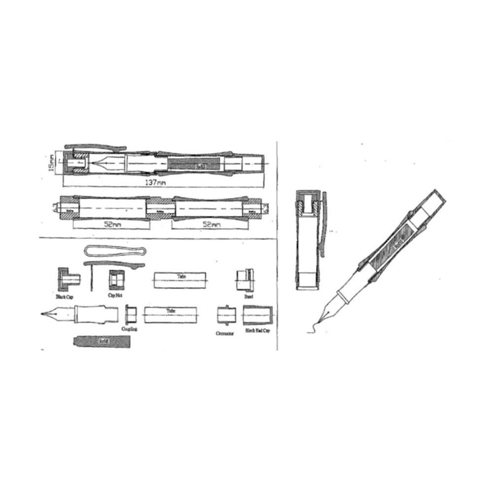 Mécanisme stylo plume doré de Luxe Maison Du Tournage # Mécanisme Stylo Bois