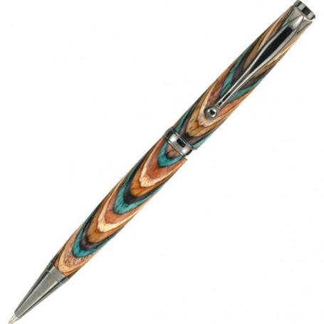 Mécanisme stylo à bille noir titane avec caoutchouc Confort