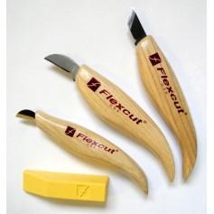 Ensemble de 3 couteaux gravure Flexcut