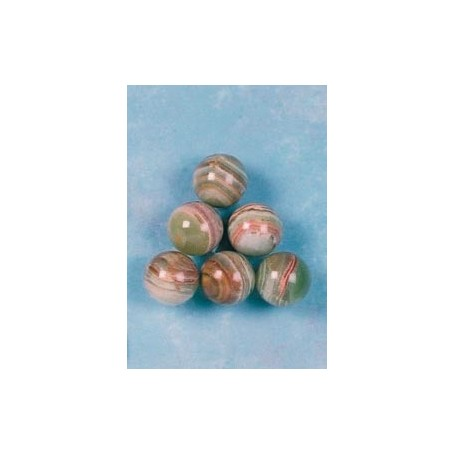 Billes marbre Onyx ø 25mm (lot de 6)