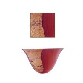 Padouk carré 150 x 150 x 75mm