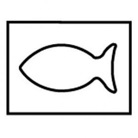 Gabarit de décoration, guide poisson