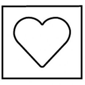 Gabarit de décoration, guide coeur