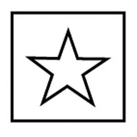 Gabarit de décoration, guide étoile