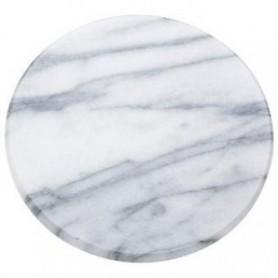 Plat en marbre blanc 150mm
