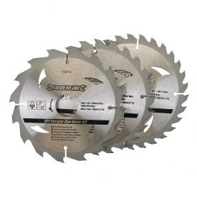 3 Lames de scies circulaire dia. 160mm