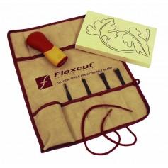 Ensemble 4 outils de sculpture FLEXCUT