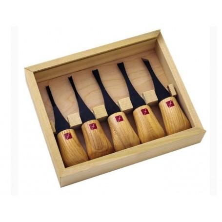 ensemble d butant 5 outils de paume sculpture sur bois flexcut. Black Bedroom Furniture Sets. Home Design Ideas