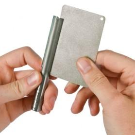 Pierre diamantée carte de crédit double face