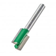Fraises droites 2 tranchants, tige 8mm, diam 12,7mm, HC 19,1mm