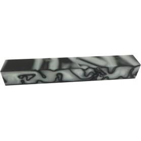 Acrylique stylo et incrustation Blanc et Noir
