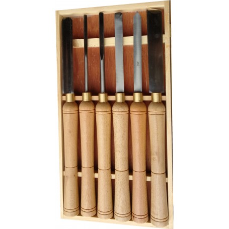 Coffret 6 outils de tournage sur bois loisir