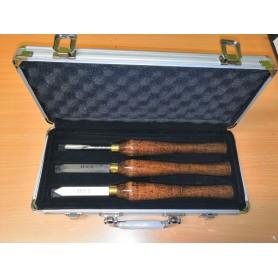 Ensemble 3 outils de tournage sur bois Leman