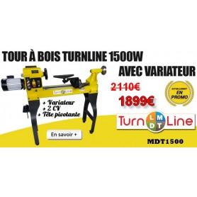 Tour à bois TurnLine variateur MDT1500
