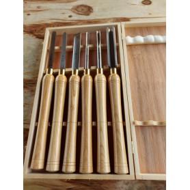 Coffret 6 outils de tournage sur bois amateur