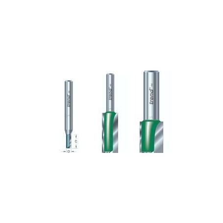 Fraises droites 2 tranchants, tige 8mm, diam 18mm, HC 25mm