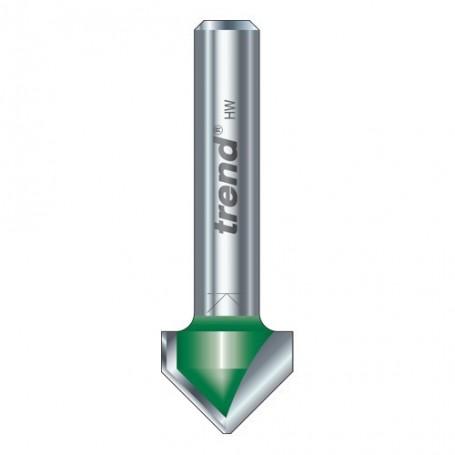 Fraise à chanfreiner en V, 45° Tige 12,7mm, HC 6mm