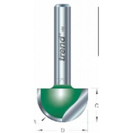 Fraise à gorges, tige 8mm, diam 19,1mm