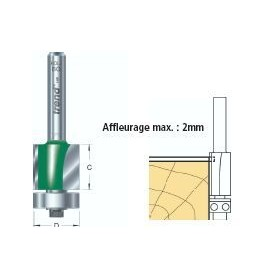 Fraises à affleurer guidées diam 9.5mm x tige 8mm