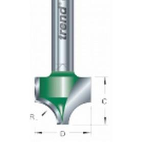 """Fraises quart de ronde tige 1/4"""", diam 12,7mm, HC 9mm"""