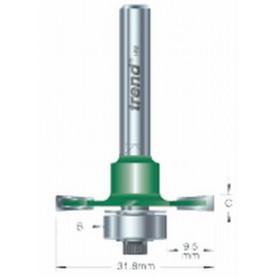 Fraises à rainure fixe, tige 8mm, HC 3mm