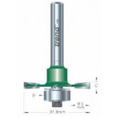 Fraise à rainure fixe, tige 8mm, HC 6mm TREND