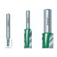 Fraises droites 2 tranchants, tige 12,7mm, diam 12,7mm, HC 50mm