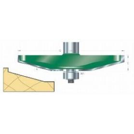 Fraises à plate-bandes guidée biseautée, tige 12,7mm