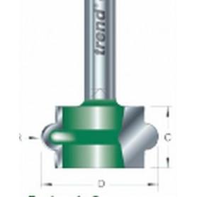 Fraises à gorge, tige 8mm, HC 12,7mm x 2,8