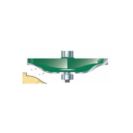 Fraises à plate-bandes guidée, tige 12mm, diam 85,7mm