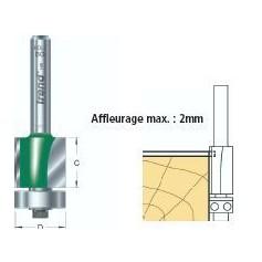 Fraises à affleurer guidées diam 12.7mm x HC 50mm