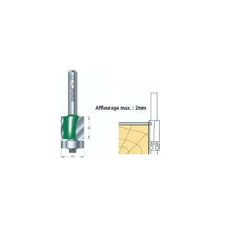 Fraises à affleurer guidées diam 12.7mm x HC 38.1mm