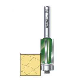 Fraises à affleurer 3 tranchants dia 12.7mm xHC 25.4mm x tige 1/