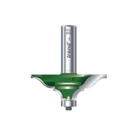 Fraise à moulure élégante guidée, tige 12,7mm