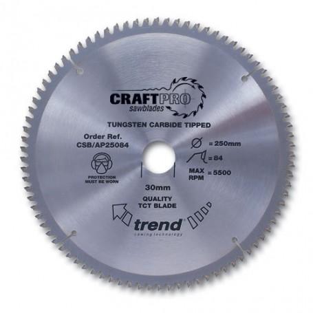 Lame de scie circulaire aluminium et plastique 165mm x Z 36 x10 mm