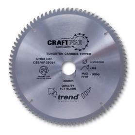 Lame de scie circulaire aluminium et plastique 254mm x Z 80 x 30mm