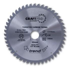 Lame à tronçonner Craft anti-dérapante 260mm x 60 Z x 30mm